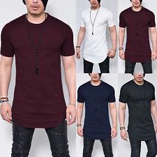 Classics Herren T-Shirt Extra Lang Long Shirts Tee Oversize Slim Fit Bluse Hemd