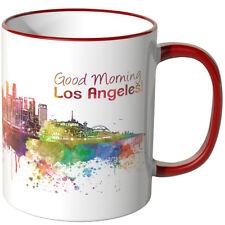 """WANDKINGS Tasse, Schriftzug """"Good Morning Los Angeles!"""" mit Skyline ver. Farben"""