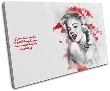 Marilyn Monroe Iconic Celebrities SINGLE CANVAS WALL ART Picture Print VA