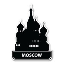 Moscow Car Laptop Phone Vinyl Sticker  - SELECT SIZE