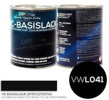 Basislack Autolack VW AUDI L041 BRILLANTSCHWARZ Spritzfertig inkl. Zubehör + Set