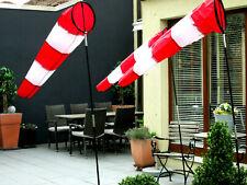 Windsack Rot Weiß 36cm / 70cm / 1,50 Meter / 1,80 Meter  Windsock YAKAIR Avion