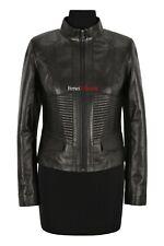 VICTORIA Ladies Jacket Black Casual Cool Flight Coat Genuine Leather Jacket