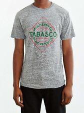 (Sriracha) TABASCO Hot Sauce Label Logo T-Shirt NWT Licensed & Official