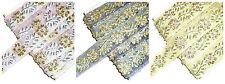Impressionnant perlé / sequin floral brodé bordure, 26mm large, Sold BTM