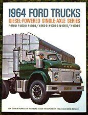 1964 Ford Trucks Diesel-Powered Single-Axle Brochure 64