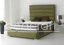 3ft,4ft6, 5ft ,6ft  Upholstered Bed Frame Chenille, Velvet, Linen, Leather