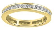 Eternity Wedding Genuine Round Diamond Ring I1 H 0.90Ct 14Kt Yellow Gold SZ 4-12