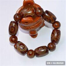 Real Jade Jewelry Fashion Personality Men Three-eye Agate Stone Bead Bracelets