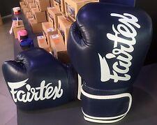GENUINE FAIRTEX BRAND NEW MICRO FIBER BOXING GLOVES BLUE COLOR