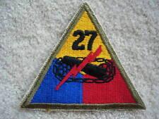 WW2 US Army 27th Armored Battalion cloth patch  - Tanks