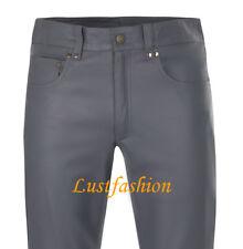 Lederjeans 501-st. dunkelgrau Lederhose neu leather trousers pants LEDERFUTTER