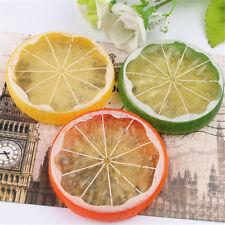 2~50pcs Artificial Lemon Slices Lifelike Plastic Fake Fruit Home Decor Props