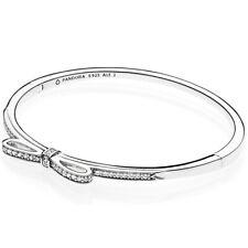 PANDORA Armreif 590536 CZ Bow Schleife Silber