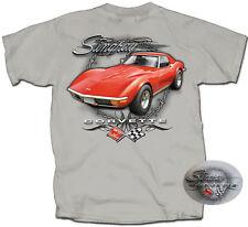 Corvette Stingray Red GM Men's T-shirt  AMERICAN  MUSCLE CARS