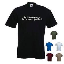 """""""mi potable equipo tiene un Dardos problema! » - Funny Para Hombre Dardos Camiseta. S-XXL"""