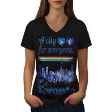 Pride Love Urban Toronto Women V-Neck T-shirt NEW | Wellcoda