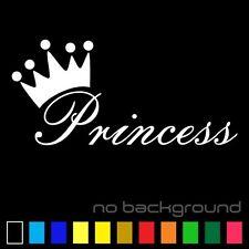 Princess Sticker Vinyl Decal Die Cut - Girl Crown Car Window Baby Wall Decor Art