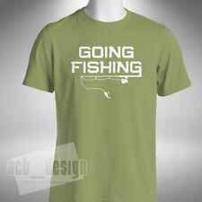 Going Fishing T-shirt Fishing Carp Pike Angler Fly Night Fisherman Funny Baiter