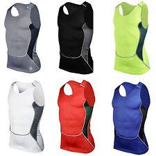 Mens Compression Base Layer Tank Tops Sleeveless Gym Running Sports Vest Shirt