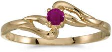 14k Yellow Gold Round Ruby Ring (CM-RM1039X-07)