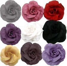1x, 2x, 4x Blumen HAARBLUME Rose Ansteckblume Haarspange Krokodilspange Brosche