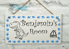 Personalised Name Plaque Door Nursery Bedroom Sign Gift Baby Boys Dinosaur Room