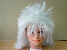 White Mens Spikey Punk 70s 80s Mullet Wigs Party Fancy Dress