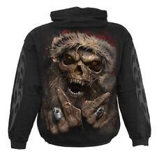 ROCK SANTA - Hoodie Black Horror/Reaper/Skulls/Undead/Biker/Gothic/Hoodie/Metal