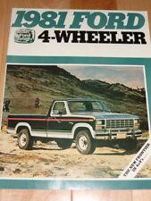 1981 FORD 4X4 PICKUP BRONCO SUPERCAB  SALES BROCHURE 4-WHEELER TRUCK