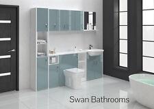 Bleu métallique brillant meubles de salle de bain monté avec des unités murales 2100mm