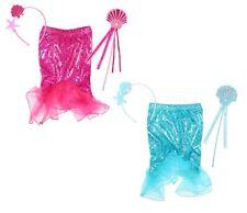 Mermaid Girl Fancy Dress Up Costume, Tutu & Wand Set