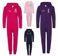 Kids Personalised Rose Gold All In One - Customised Printed Name Girls Hoodie