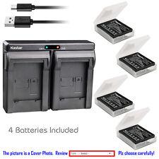 Kastar Battery Slim Dual USB Charger for Sigma BP-41 & SIGMA DP2 Merrill Camera