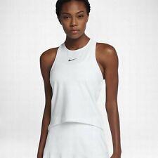 $65 NEW Women's NIKE COURT BREATHE Maria Sharapova Tennis Tank Top 888180 White