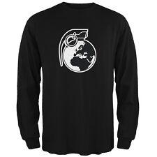 Grenade Globe Black Adult Long Sleeve T-Shirt