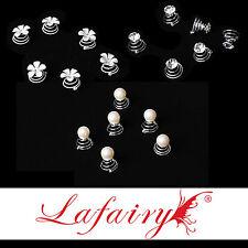 6 Stück Haarschmuck Curlies mit Strass, Perle oder Blume zur Auswahl