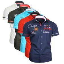 Binder de Luxe Shirt Kurzarm Stick Kentkragen bestickt Herrenhemd Stickerei 825