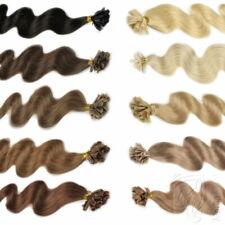 180 Remy Echthaar Extensions 1g 60cm Bondings Wärmezange Haarverlängerung Wellig