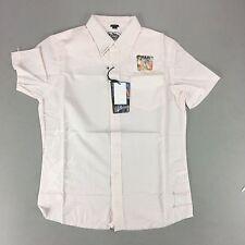 Billabong manica corta camicia di rimborso in Nuovo di Zecca Rosa Taglia S