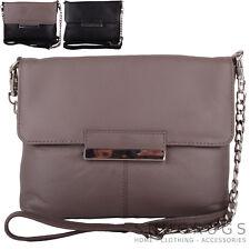 Ladies / Womens Premium Soft Leather Hand / Shoulder / Cross Body / Clutch Bag