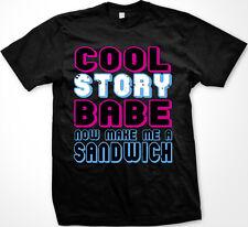 Cool Story Babe Now Make Me Sandwich Rude Joke Mean Couple Funny Men's T-Shirt