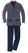 Pyjama langer Schlafanzug durchgeknöpft Gr. 50 52 54 56 58 60 62 64 68 72 76 80