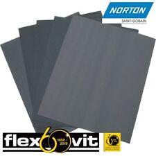 FLEXOVIT BY NORTON WET AND DRY SANDPAPER 80 - 1500 GRIT - Various Quantities