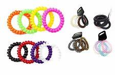 Espiral De Plástico Grueso Alambre Elástico Pelo Banda Bobble Ponio Negro y muchos colores