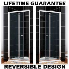 Bifold shower door glass screen 700/760/800/860/900/1000mm NEXT DAY DELIVERY