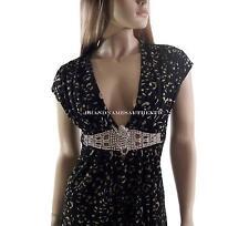 Sky Brand Mini Dress Top with Crystal Tigers Belt Medium