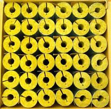 Rohrschalen alukaschiert, Steinwolle, Rohrisolierung, Isolierung 1 m = 1 Stück