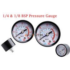 1/4 &1/8 BSP Air Compressor Male Threaded 0-180PSI 0-12Kg/cm2 Pressure Gauge