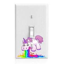 Unicorn Barf Rainbow Light Switch Cover,Home Decor Wall Decor Bedroom Decor Bath